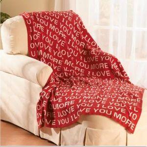 "'I Love you' blanket throw 50"" X 60"""